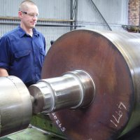 610mm diameter mill roll restubbed