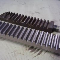 Gear rack - manufactured from damaged sample