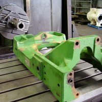 Borer with John Deere tractor chassis component