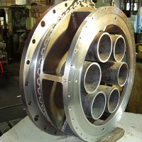 Fabricated and machined valve body